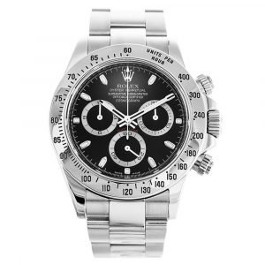 AUTOMATIC ROLEX DAYTONA 116520 BLACK DIAL - Top Watches